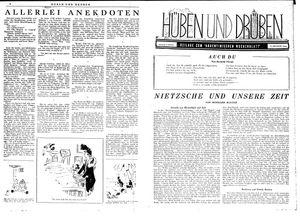Hüben und drüben vom 21.10.1944