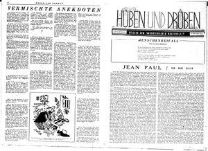 Hüben und drüben vom 18.11.1944