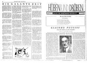 Hüben und drüben vom 25.11.1944