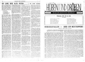 Hüben und drüben vom 03.03.1945