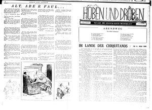 Hüben und drüben vom 15.09.1945