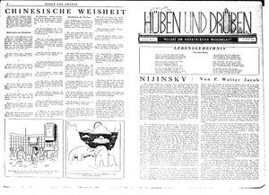 Hüben und drüben vom 06.10.1945