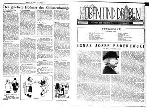 Hüben und drüben vom 17.11.1945