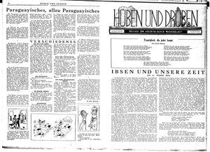 Hüben und drüben vom 24.11.1945
