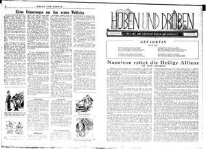 Hüben und drüben vom 08.12.1945
