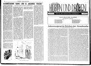 Hüben und drüben vom 29.12.1945