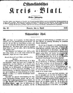 Osthavelländisches Kreisblatt vom 04.04.1849