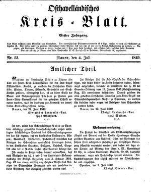 Osthavelländisches Kreisblatt vom 04.07.1849