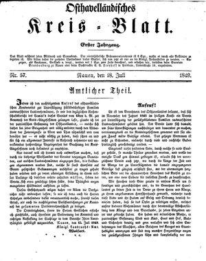 Osthavelländisches Kreisblatt vom 18.07.1849