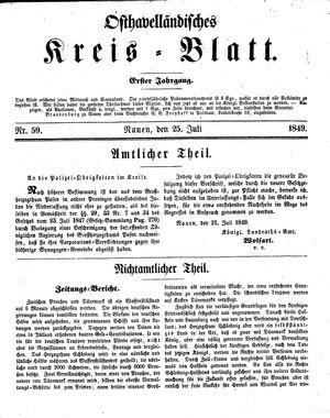Osthavelländisches Kreisblatt vom 25.07.1849