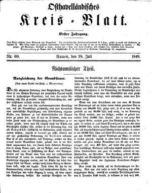 Osthavelländisches Kreisblatt vom 28.07.1849