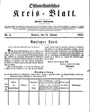 Osthavelländisches Kreisblatt vom 12.01.1850