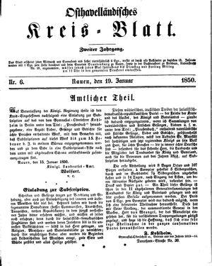 Osthavelländisches Kreisblatt vom 19.01.1850