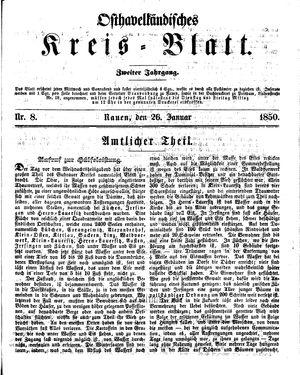 Osthavelländisches Kreisblatt vom 26.01.1850