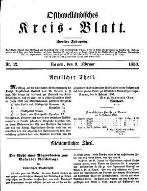 Osthavelländisches Kreisblatt vom 09.02.1850