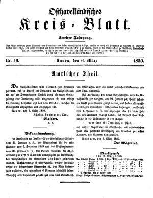Osthavelländisches Kreisblatt vom 06.03.1850