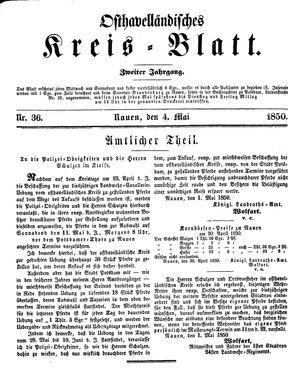 Osthavelländisches Kreisblatt vom 04.05.1850