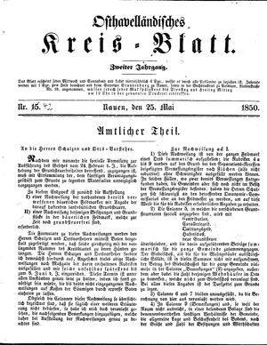 Osthavelländisches Kreisblatt vom 25.05.1850