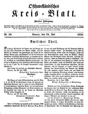 Osthavelländisches Kreisblatt vom 24.07.1850