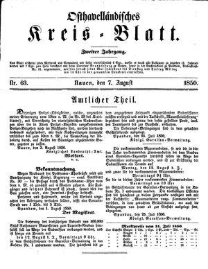 Osthavelländisches Kreisblatt vom 07.08.1850