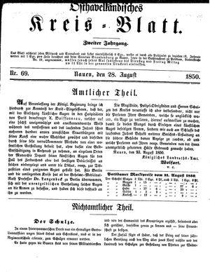 Osthavelländisches Kreisblatt vom 28.08.1850