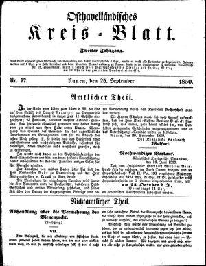 Osthavelländisches Kreisblatt vom 25.09.1850