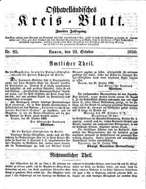 Osthavelländisches Kreisblatt vom 23.10.1850