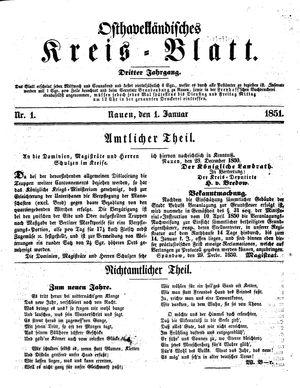 Osthavelländisches Kreisblatt vom 01.01.1851