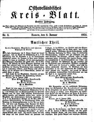 Osthavelländisches Kreisblatt vom 08.01.1851