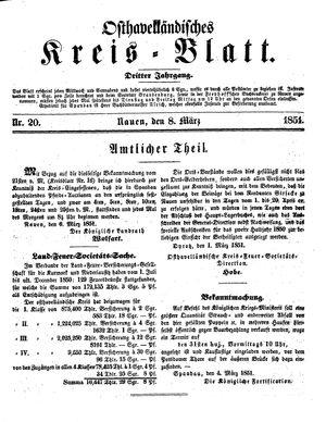 Osthavelländisches Kreisblatt vom 08.03.1851
