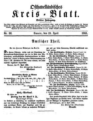 Osthavelländisches Kreisblatt vom 19.04.1851