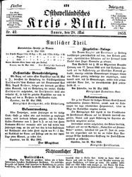 Osthavelländisches Kreisblatt (28.05.1853)