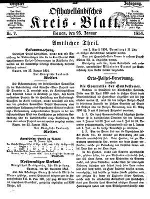 Osthavelländisches Kreisblatt on Jan 25, 1854