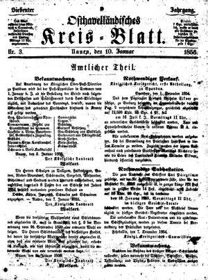 Osthavelländisches Kreisblatt vom 10.01.1855