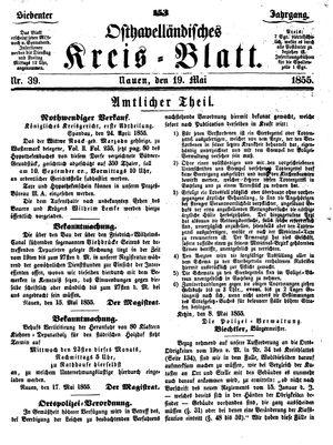 Osthavelländisches Kreisblatt vom 19.05.1855