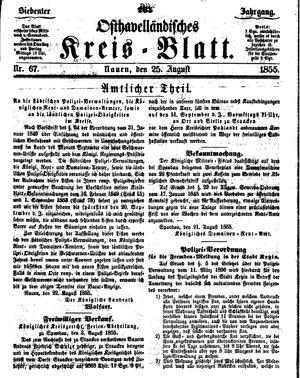Osthavelländisches Kreisblatt vom 25.08.1855
