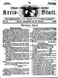 Osthavelländisches Kreisblatt (23.02.1856)