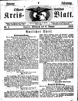 Osthavelländisches Kreisblatt vom 06.01.1858