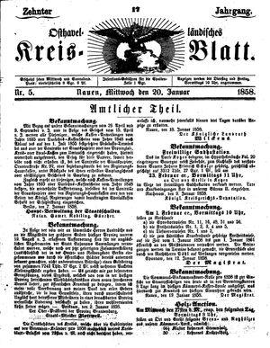 Osthavelländisches Kreisblatt vom 20.01.1858