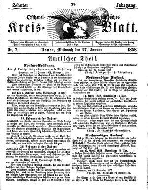Osthavelländisches Kreisblatt vom 27.01.1858