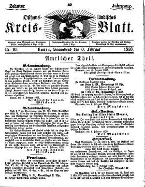 Osthavelländisches Kreisblatt vom 06.02.1858