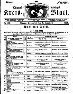 Osthavelländisches Kreisblatt vom 06.11.1858