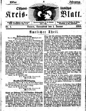 Osthavelländisches Kreisblatt vom 01.01.1859