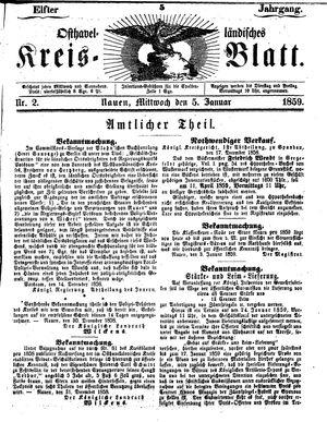 Osthavelländisches Kreisblatt vom 05.01.1859