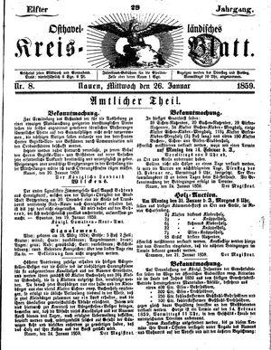 Osthavelländisches Kreisblatt vom 26.01.1859