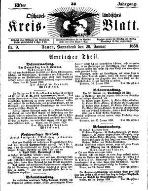 Osthavelländisches Kreisblatt vom 29.01.1859