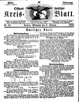 Osthavelländisches Kreisblatt vom 02.02.1859