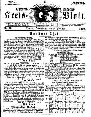 Osthavelländisches Kreisblatt vom 05.02.1859
