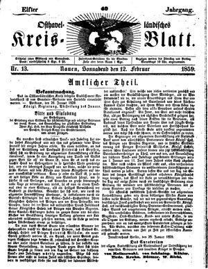 Osthavelländisches Kreisblatt vom 12.02.1859
