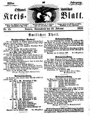 Osthavelländisches Kreisblatt vom 19.02.1859